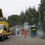 Sanificazione esterna con impiego di acqua calda (100°C) e ad alta pressione (70atm)