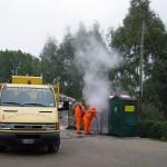 Sanificazione interna con impiego di acqua calda (100°C) e ad alta pressione (70atm)